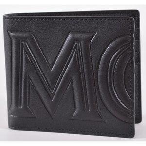 MCM Men's Leather Embossed Logo Bifold Wallet